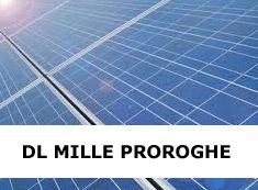 Decreto Legge Mille Proroghe Fotovoltaico